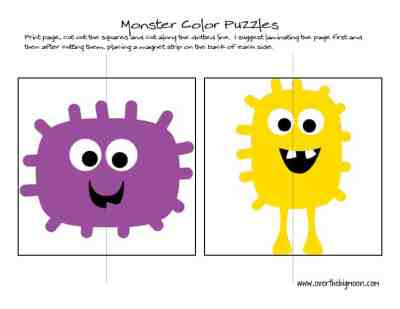 Monster Color Puzzles