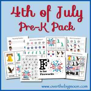 4th of July Pre-K Pack