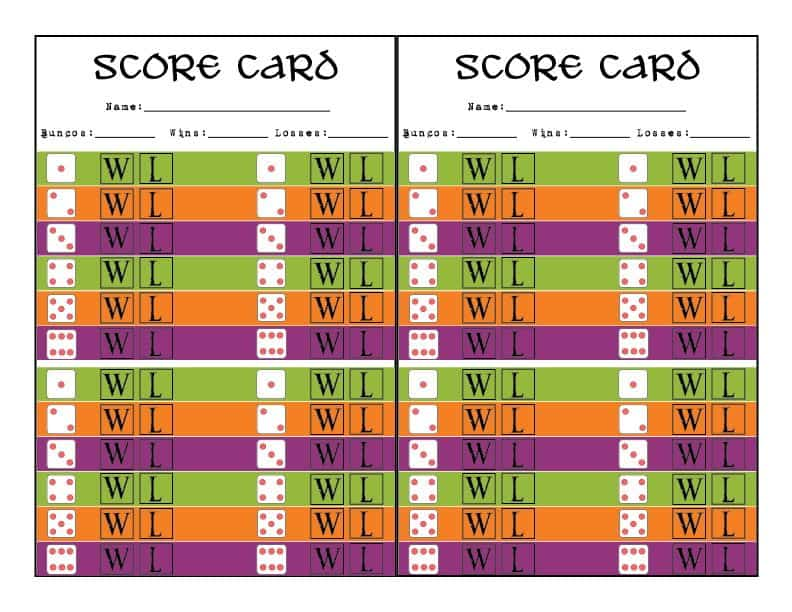photograph regarding Cute Bunco Score Sheets Printable known as Halloween Bunco Printables