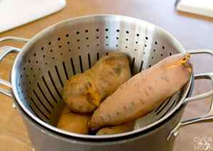 Cooling Sweet Potatoes for Sweet Potato Casserole! From overthebigmoon.com!