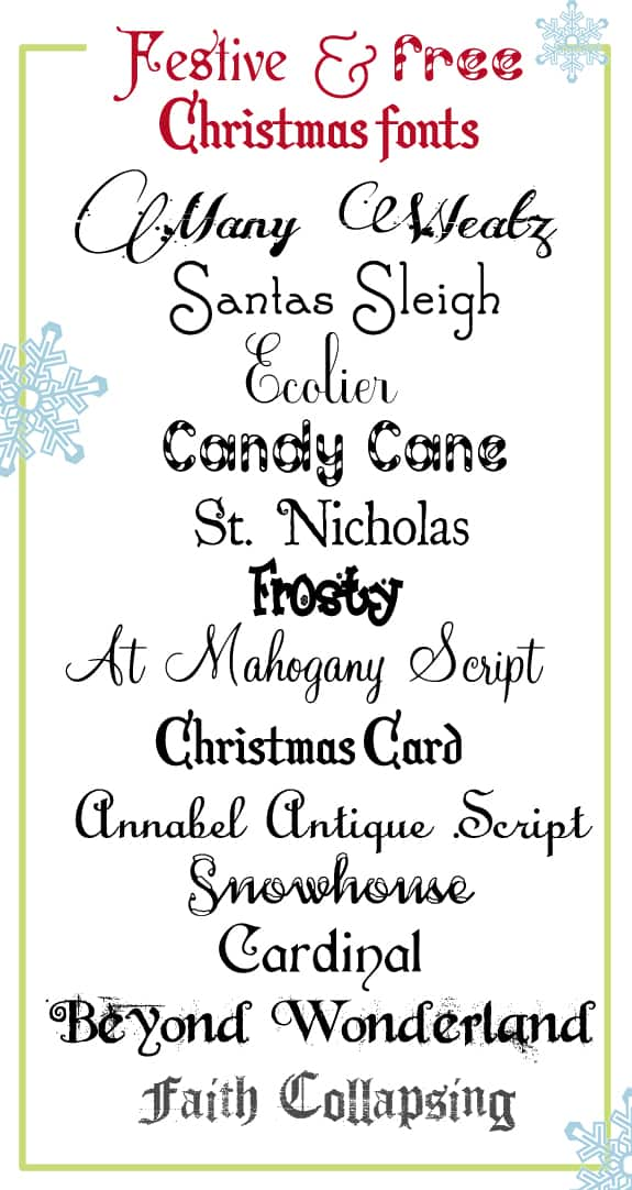 festive and free christmas fonts festive and free christmas fonts