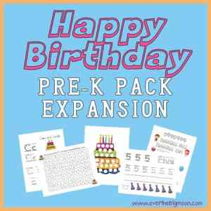 Happy Birthday Pre-K Pack Expansion