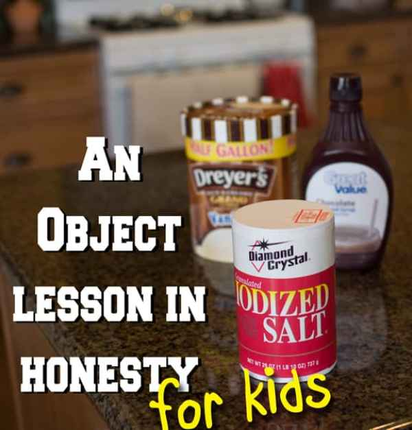 An Object Lesson in Honesty for Kids - a great hands on lesson to open a discussion about honesty with youth! From overthebigmoon.com!