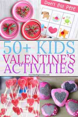 50+ Kids Valentine's Day Activities and Crafts -- help celebrate the holiday with these fun ideas! From overthebigmoon.com!