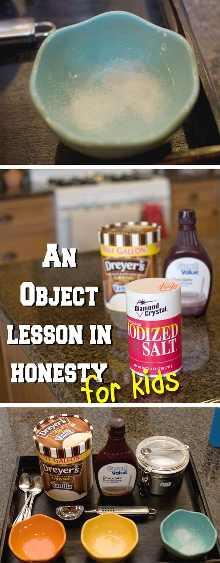 A hands on way to teach your kids about honesty. This Object Lesson for Kids on Honesty opens up great dialogue and will be a lesson your kids don't forget!