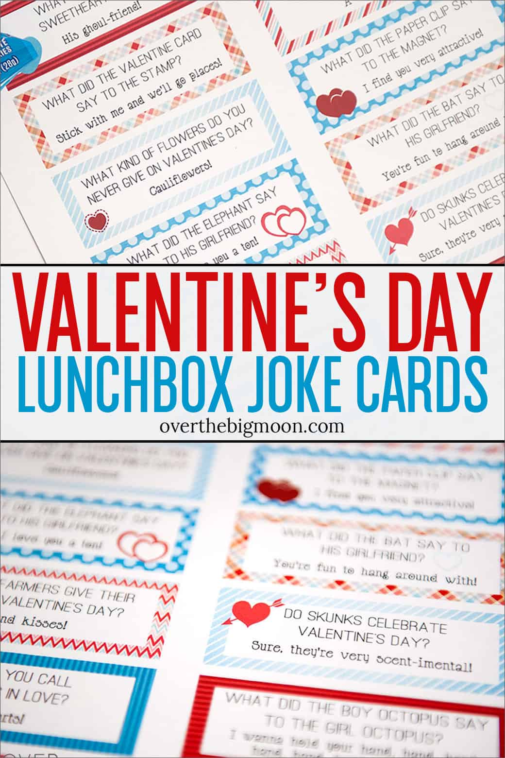 These Free Printable Valentines Lunch Box Joke Cards are a fun way to celebrate the holiday all month long!From overthebigmoon.com!