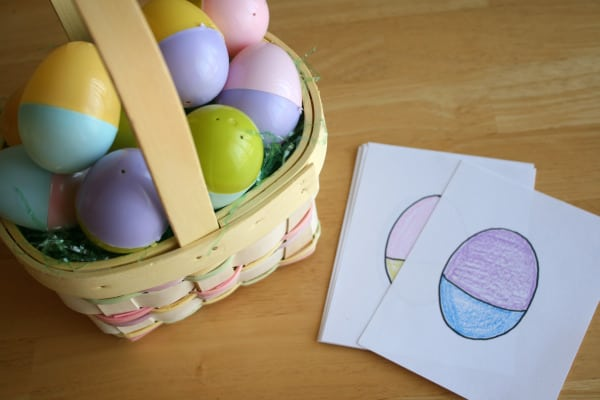 Mix and Match Easter Egg Hunt and 10+ other fun Easter Egg Hunt Ideas! From overthebigmoon.com!
