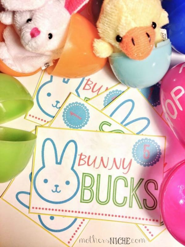 Bunny Bucks Egg Hunt and 10+ other fun Easter Egg Hunt Ideas! From overthebigmoon.com!