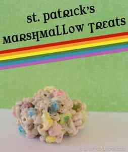 St Patrick's Marshmallow Treats