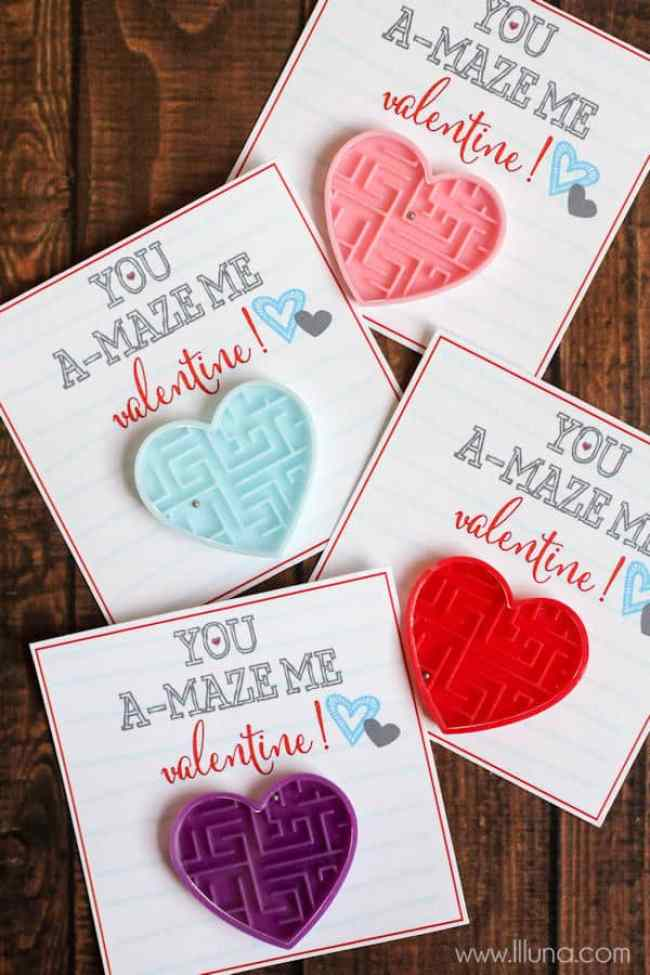 Maze Valentine Idea - Candy Free