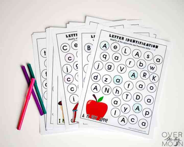Alphabet Worksheets - from overthebigmoon.com!