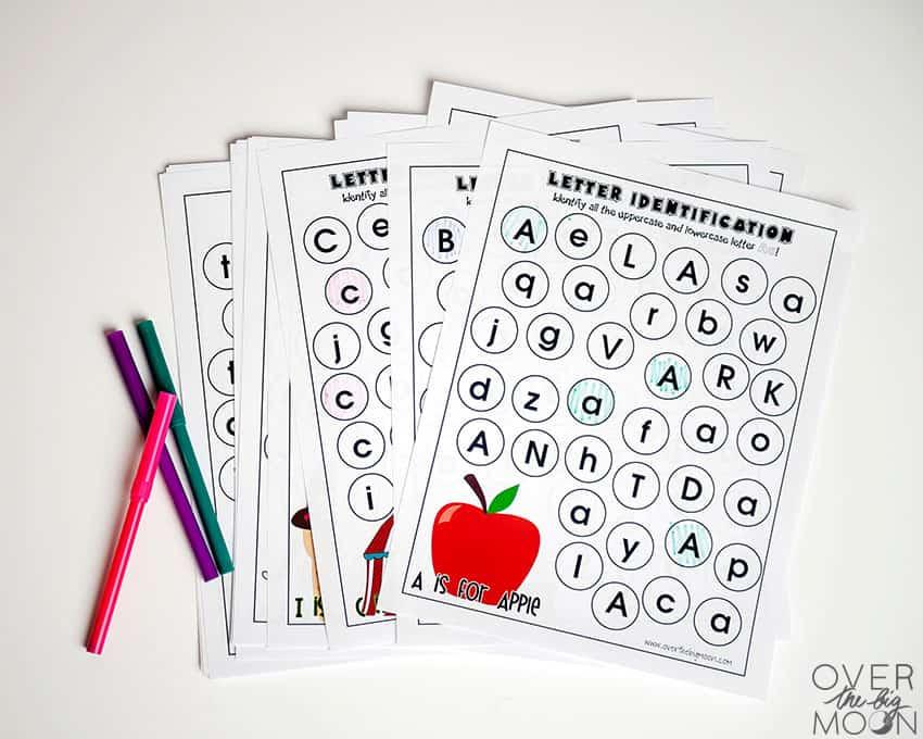 Alphabet Worksheets - from overthebigmoon.com!