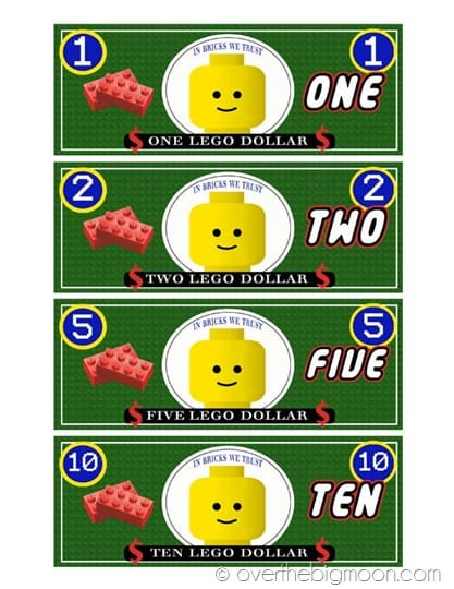 image about Lego Printable referred to as lego dollars