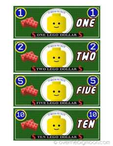 Free Printable Lego Money
