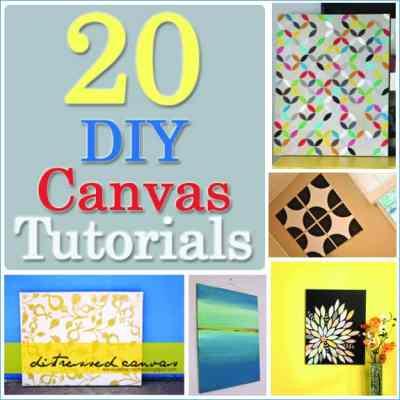 20 DIY Canvas Art Tutorials