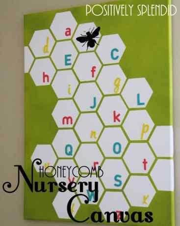 honeycomb nursery wall canvas 2