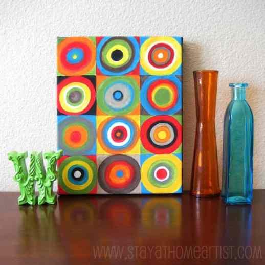 kandinsky concentric circles canvas art