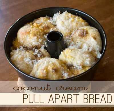Coconut Cream Pull Apart Bread