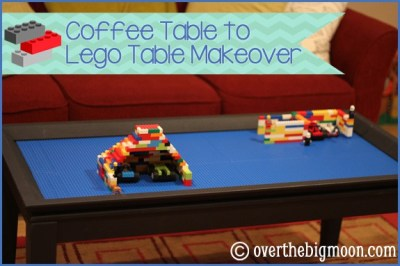 Coffee Table to Lego Table Makeover