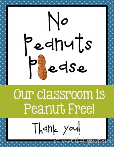 No peanut please blue
