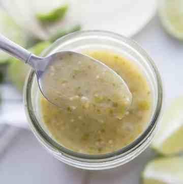 Easy Green Enchilada Sauce -- overthebigmoon.com