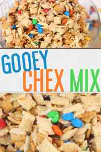 The BEST Gooey Chex Mix (also known as GORP)! This is the perfect sweet and salty treat that everyone will love! From overthebigmoon.com!