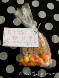 No Tricks Just Treats Printable Tags
