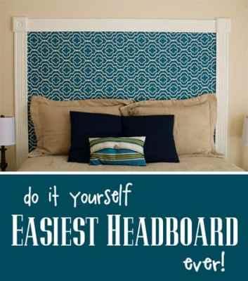 DIY Easiest Headboard
