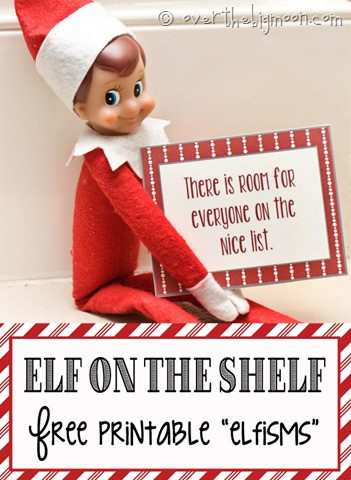 Free Printable Elf on the Shelf Elfisms - the perfect fun printable for your Elf to interact with your kids!