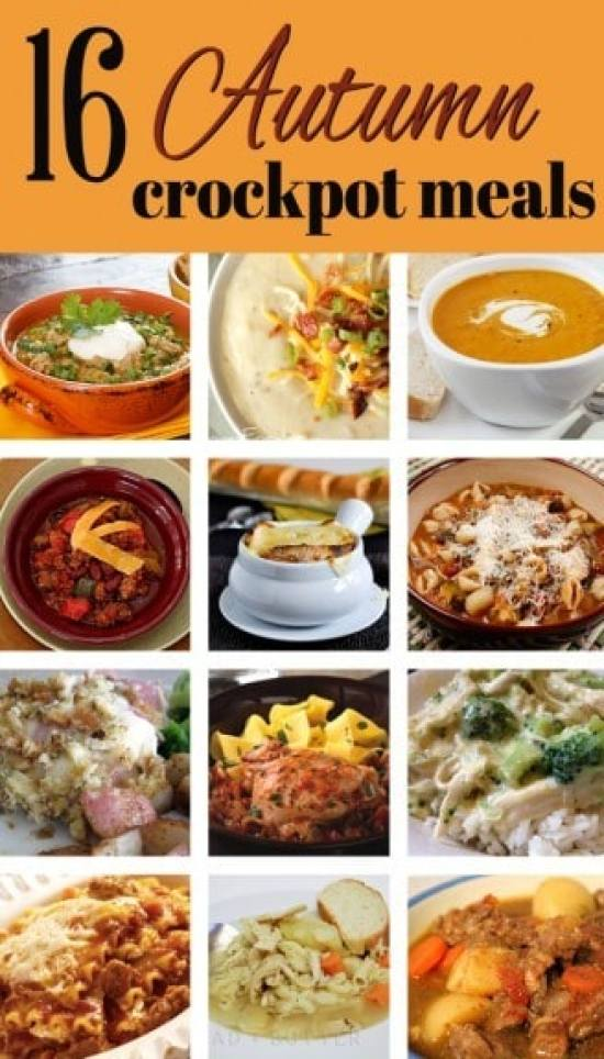 16 Autumn Crockpot Meals that are perfect for the cooler weather! From www.overthebigmoon.com!