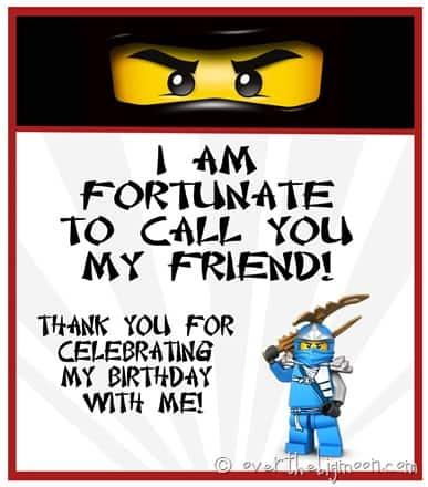Ninjago birthday treat