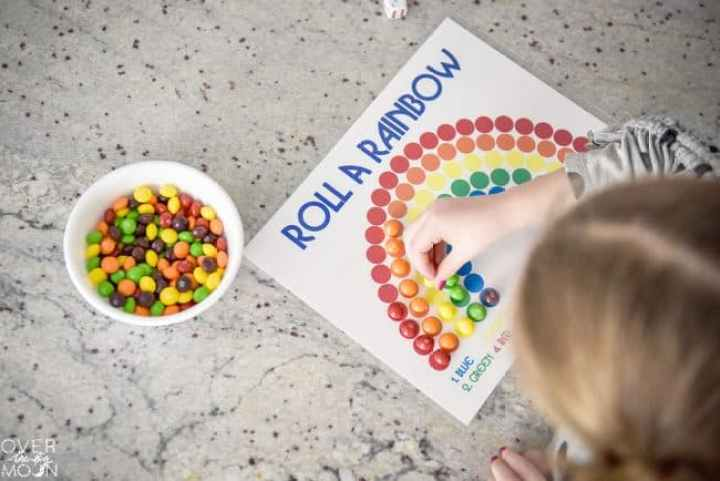 Roll a Rainbow Printable Game