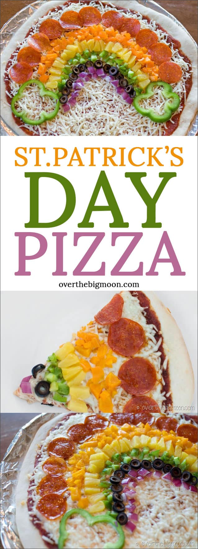 St. Patrick's Day Pizza -- this is an idea your whole family will love! Get the details at overthebigmoon.com!