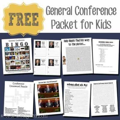 General Conference Packet for Senior Primary Kids
