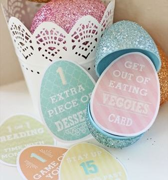 Easter Privilege Printable Cards - replace out some of that candy for these fun privilege cards! Download at www.overthebigmoon.com!