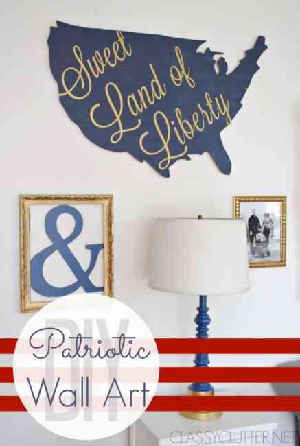 DIY Patriotic Wall Art