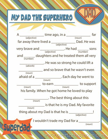 fathers day mad lib