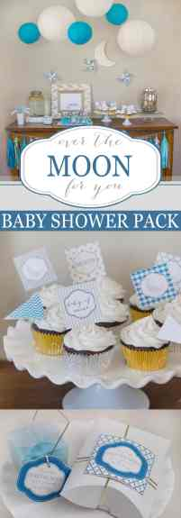 love you to the moon and back baby shower