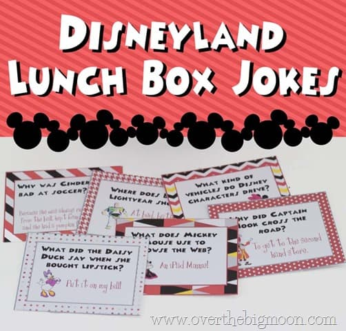 Disneyland Lunchbox Jokes | www.overthebigmoon.com