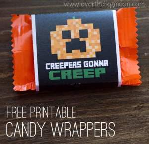 Minecraft Halloween Wrappers