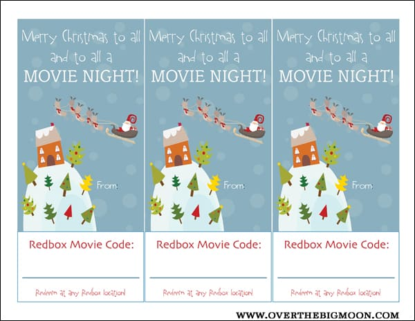 photograph about Printable Redbox Gift Cards called Redbox Neighbor Present Strategy - About the Massive Moon