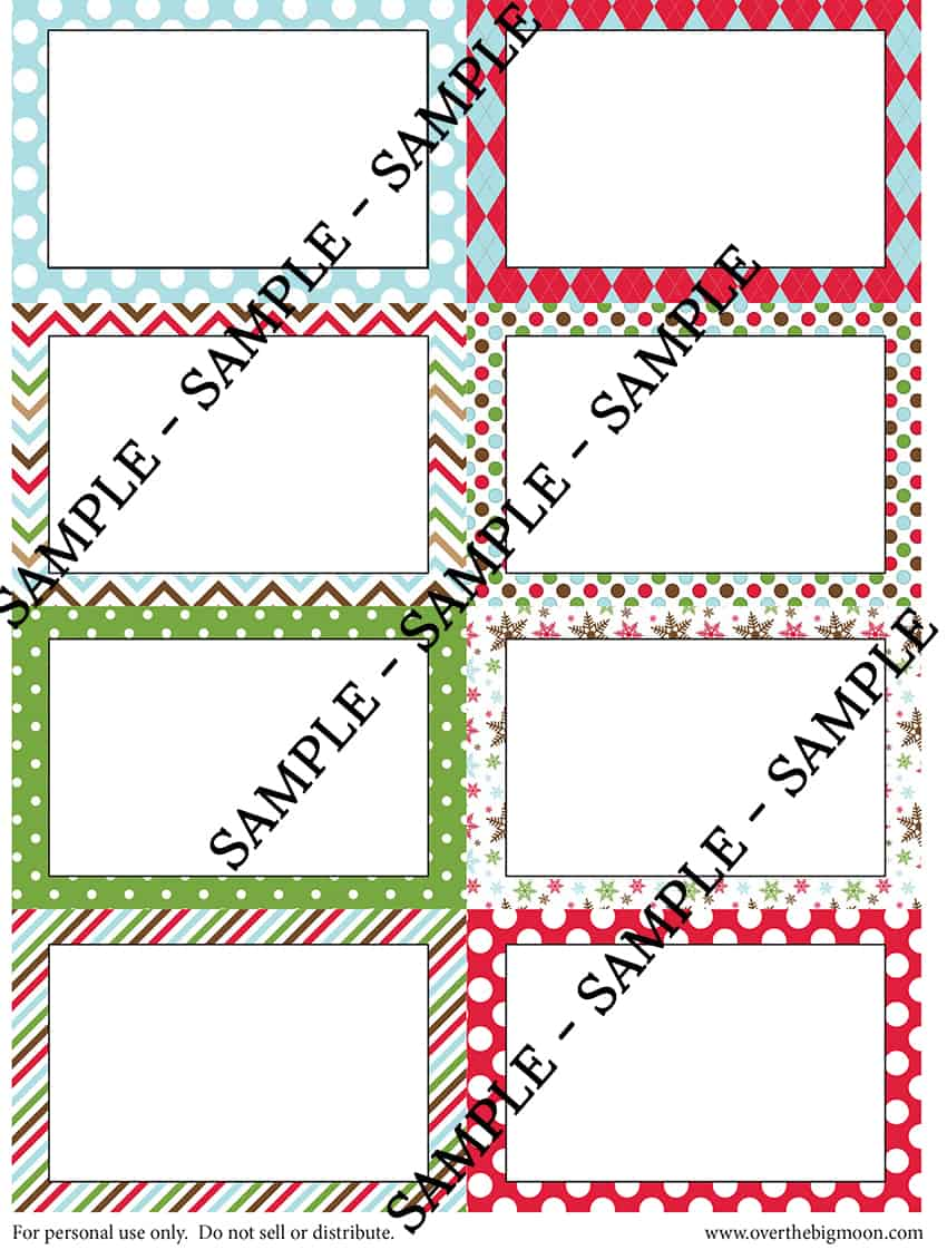 Blank Cards - to be made in Elf on the Shelf Good Dead Cards! From www.overthebigmoon.com!