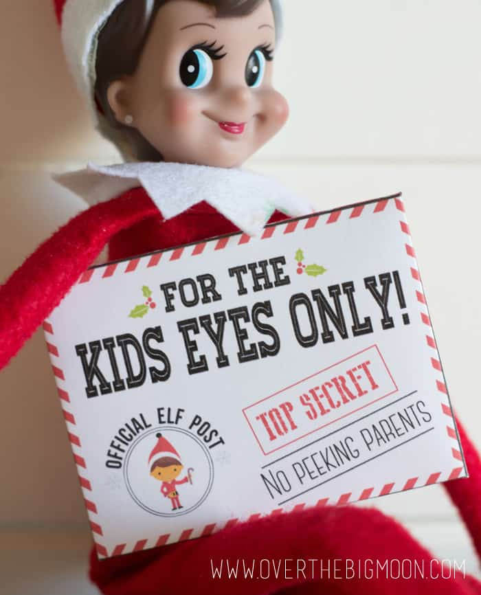 Elf on the Shelf Mission Impossible Envelopes and Cards - from overthebigmoon.com!