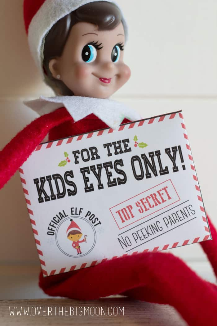 Elf on the Shelf Secret Message Printables - from overthebigmoon.com!