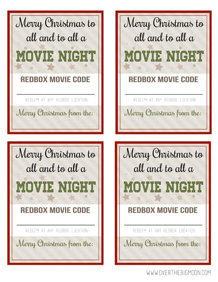 photo about Printable Redbox Gift Card called Redbox Neighbor Present Thought - Higher than the Massive Moon
