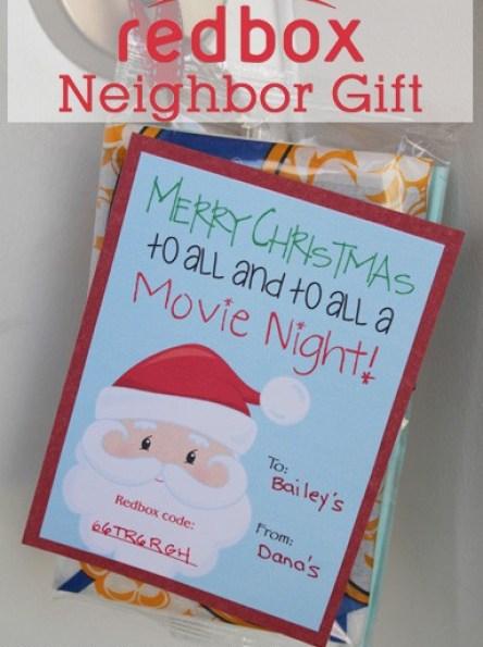 Cheap Neighbor Gift Idea - Redbox Neighbor Gift Idea! From www.overthebigmoon.com!