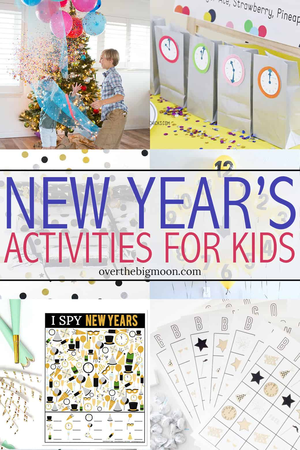 Looking for some fun activities for the family to do on New Year's Eve? Look no further! I've got a collection of crafts, activities, games and printable! From overthebigmoon.com!
