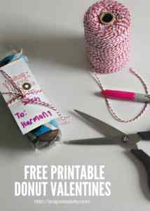 Donut Valentine Idea and Free Printable