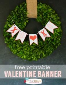 Valentine Banner Free Printable