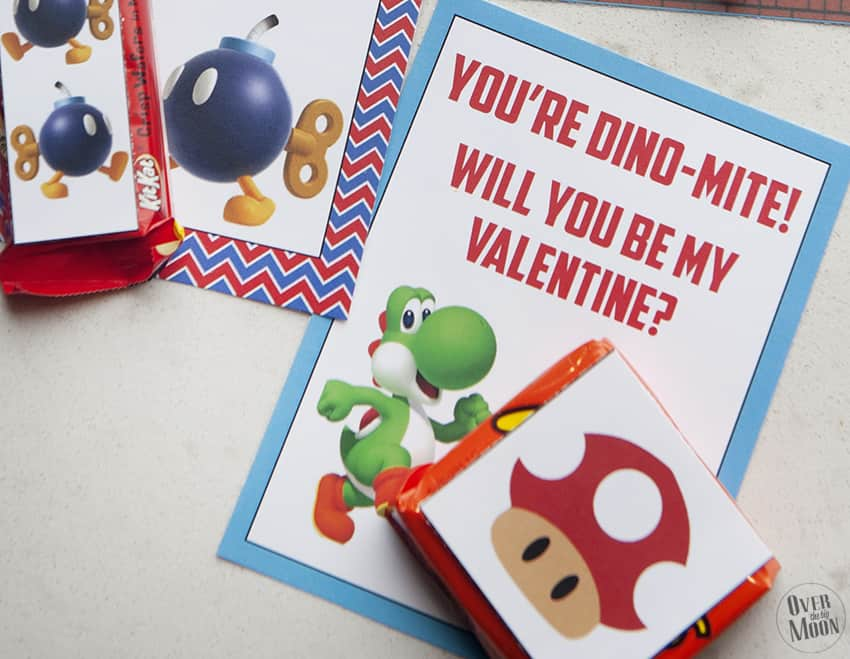 Mario Printable Valentine's - perfect for those little Super Mario lovers! From overthebigmoon.com!